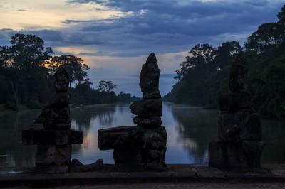 Sonnenuntergang bei Angkor Thom