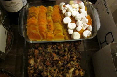 stuffing & sweet potato