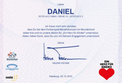 Urkunde Daniel