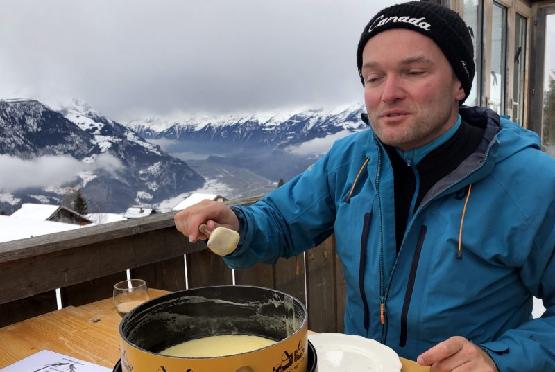 fondue auf der winterlücke